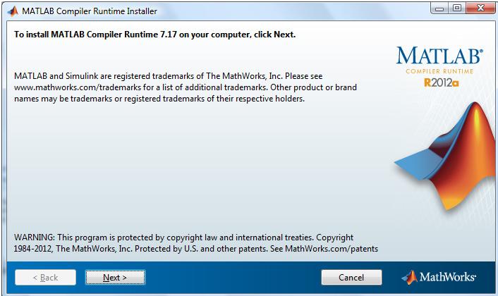 MATLAB Compiler Runtime Installer for MAC